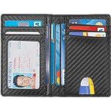Slim Wallet - Minimalist Bifold Front Pocket Wallets RFID Blocking Credit Card Holder With ID Window for Men Women