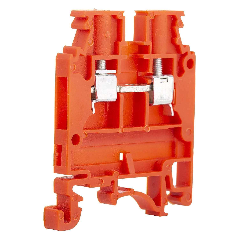 Elmex Red KUT2 5N DIN Rail Terminal Block Screw Type UL 600V
