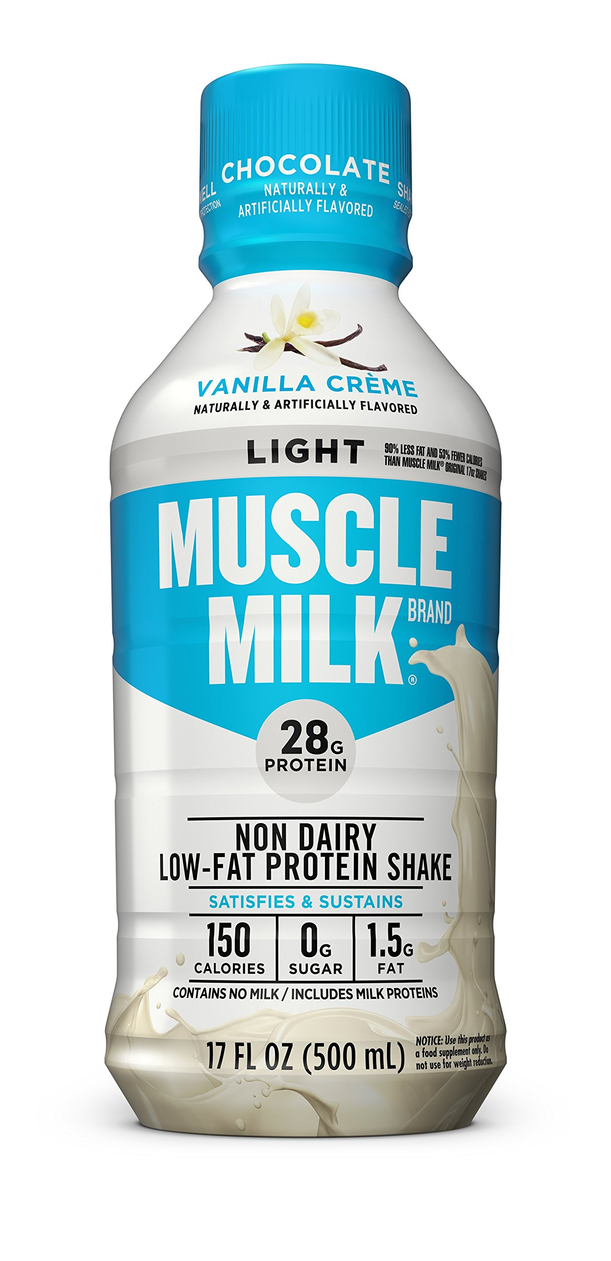 Muscle Milk Muscle Milk Light Protein Shake, Vanilla Creme, 12 Count by CytoSport