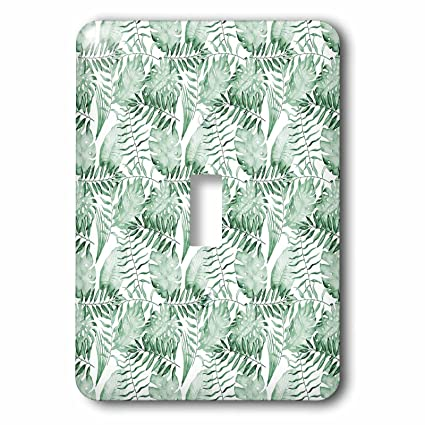 3drose Ps Chic Picturing Tropical Green Watercolor Leaves Light
