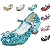 Cadidi Dinos Girls Dress Shoes Wedding Party Heel Mary Jane Princess Flower Shoes (Toddler/Little Kid/Big Kid)