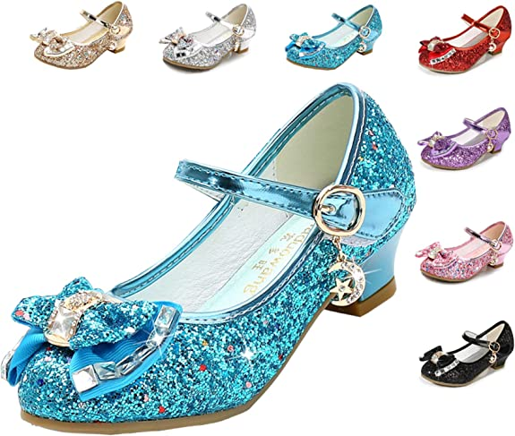 Cadidi Dinos Girls Dress Wedding Party Heel Mary Jane Princess Flower Shoes (Toddler/Little Kid/Big Kid) 10 M US Toddler best girls' spring dress shoes