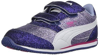 PUMA Girls  Steeple Glitz Glam V INF Running Shoe 4110a7c31