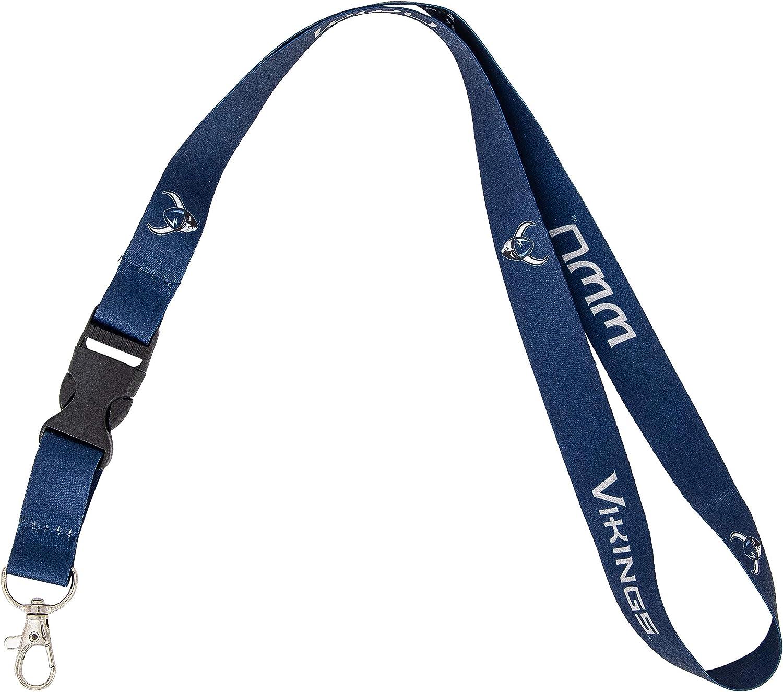 Western Washington University WWU Vikings NCAA Car Keys ID Badge Holder Lanyard Keychain Detachable Breakaway Snap Buckle