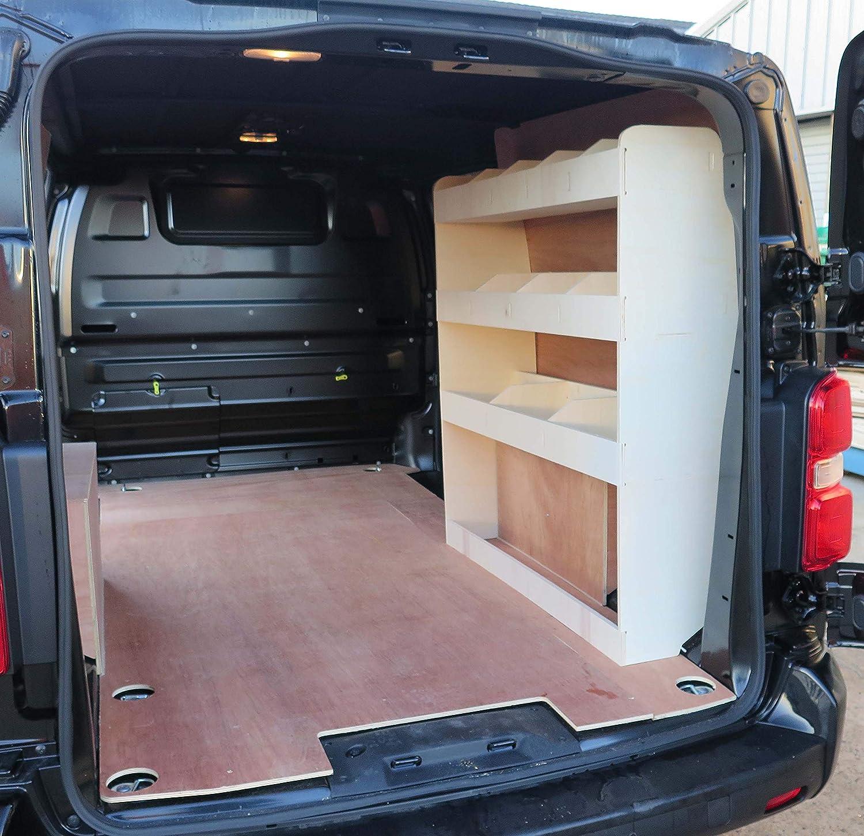 Tool Storage Shelf Plywood Van Racking Shelving OS Rear Vivaro SWB 2020