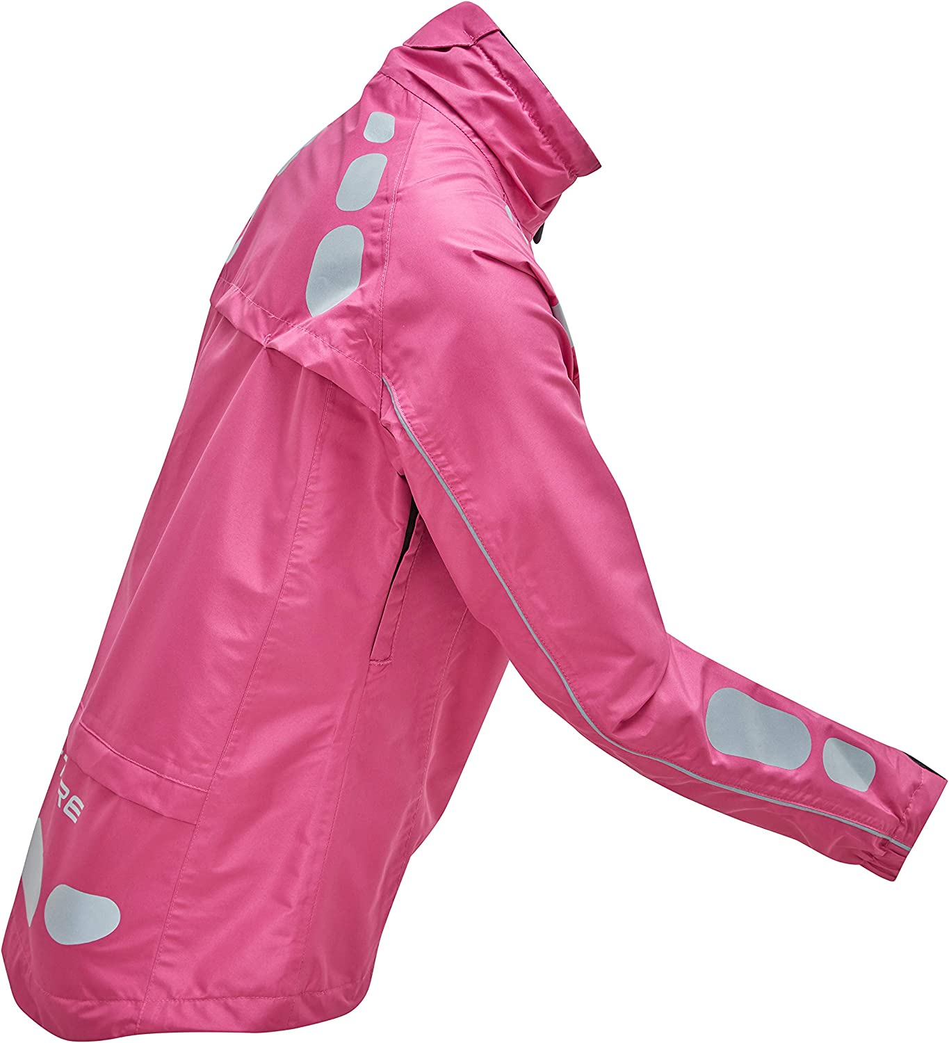 Ettore Ladies Cycling Jacket Waterproof Breathable High Visibility Pink 16 Night Eagle