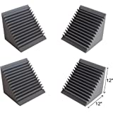 "Acoustic Foam Bass Trap Corner- 4 Pack 12"" X 12"" X 12"""