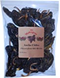 Dried Ancho Mexican Whole Dried Chile- 8oz Resealable Bag - El Molcajete Brand for Mexican Recipes, Tamales, Salsa, Chili, Meats, Soups, Stews & BBQ