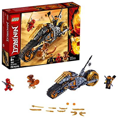 LEGO NINJAGO Cole's Dirt Bike 70672 Building Kit (212 Pieces): Toys & Games