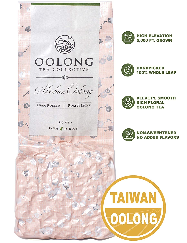 Alishan hoch Mountain Oolong Tea - 2019 Fresh Harvest - Handpicked - Natural Loose Leaf Tea - nicht Additives - 100% Taiwan Farm Direct durch Oolong Tea Collective (5.3Oz)