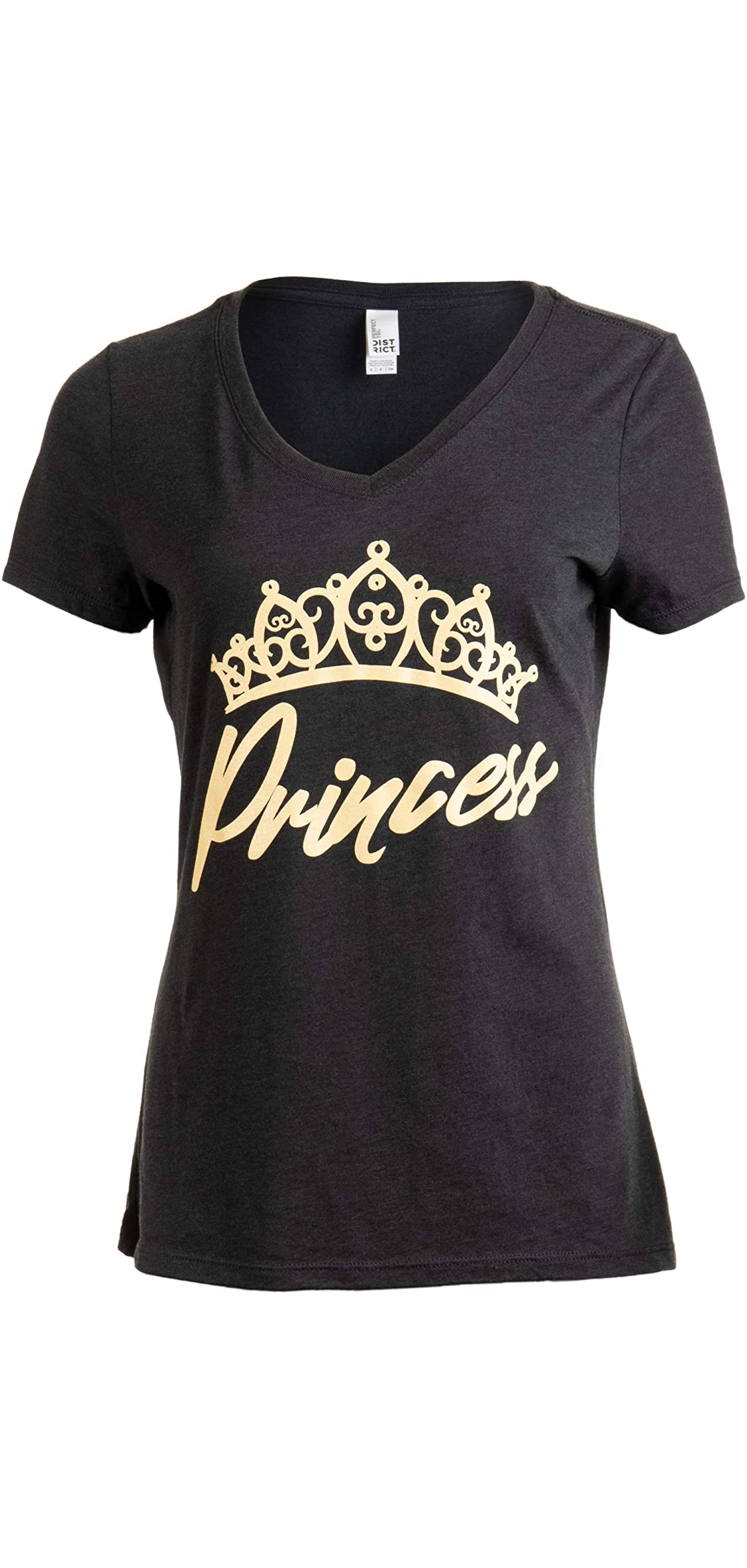 Princess  Cute, Funny Girly Royalty Tiara Crown Humor V-neck