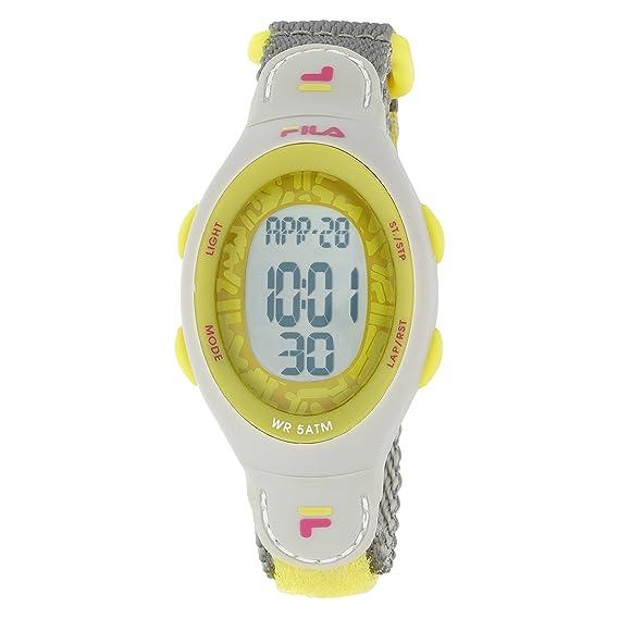 Fila 84216 - Reloj unisex con correa de goma y tela, color gris