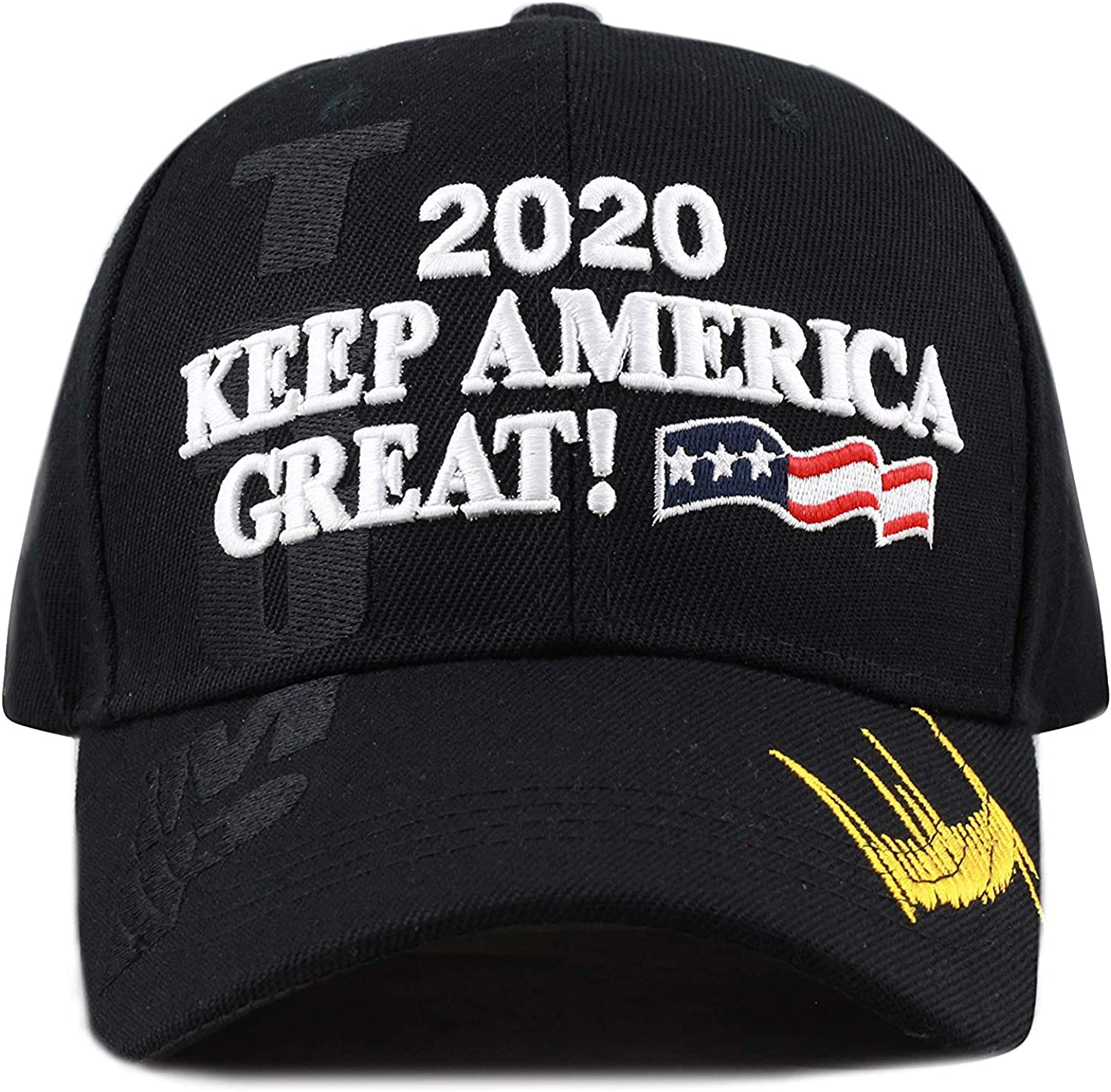 Embroidery Campaign Hat USA Baseball Cap Trump 2020 Keep America Great