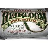 Hobbs 81 x 96-Inch Full Heirloom Premium Cotton Batting, White