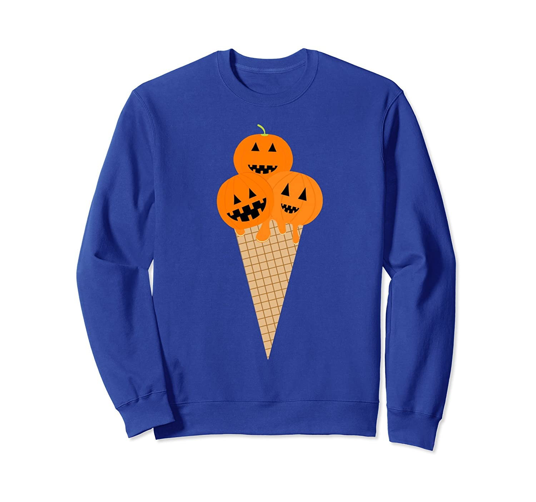 Funny Halloween Shirts - Yummy Pumpkin Ice Cream Sweatshirt-mt