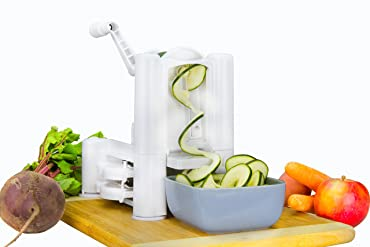 Brieftons 5-Blade Spiralizer: Vegetable Spiral Slicer, Best Veggie Pasta Spaghetti Maker
