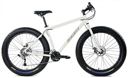 1e6fc5f6c61 Gravity Bullseye Monster 26 inch Fat Bike 26in Wheel Disc Brake Bicycle  (White, 22in