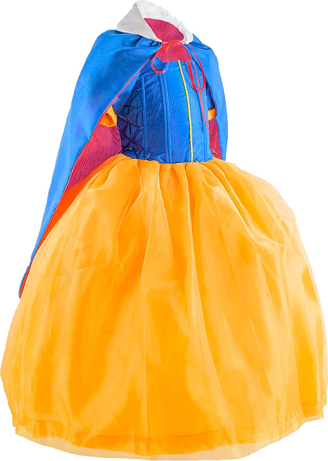 Designs Candy/´s Luxury Princess dress costume Snow with long cape and accesories for girls 3-8