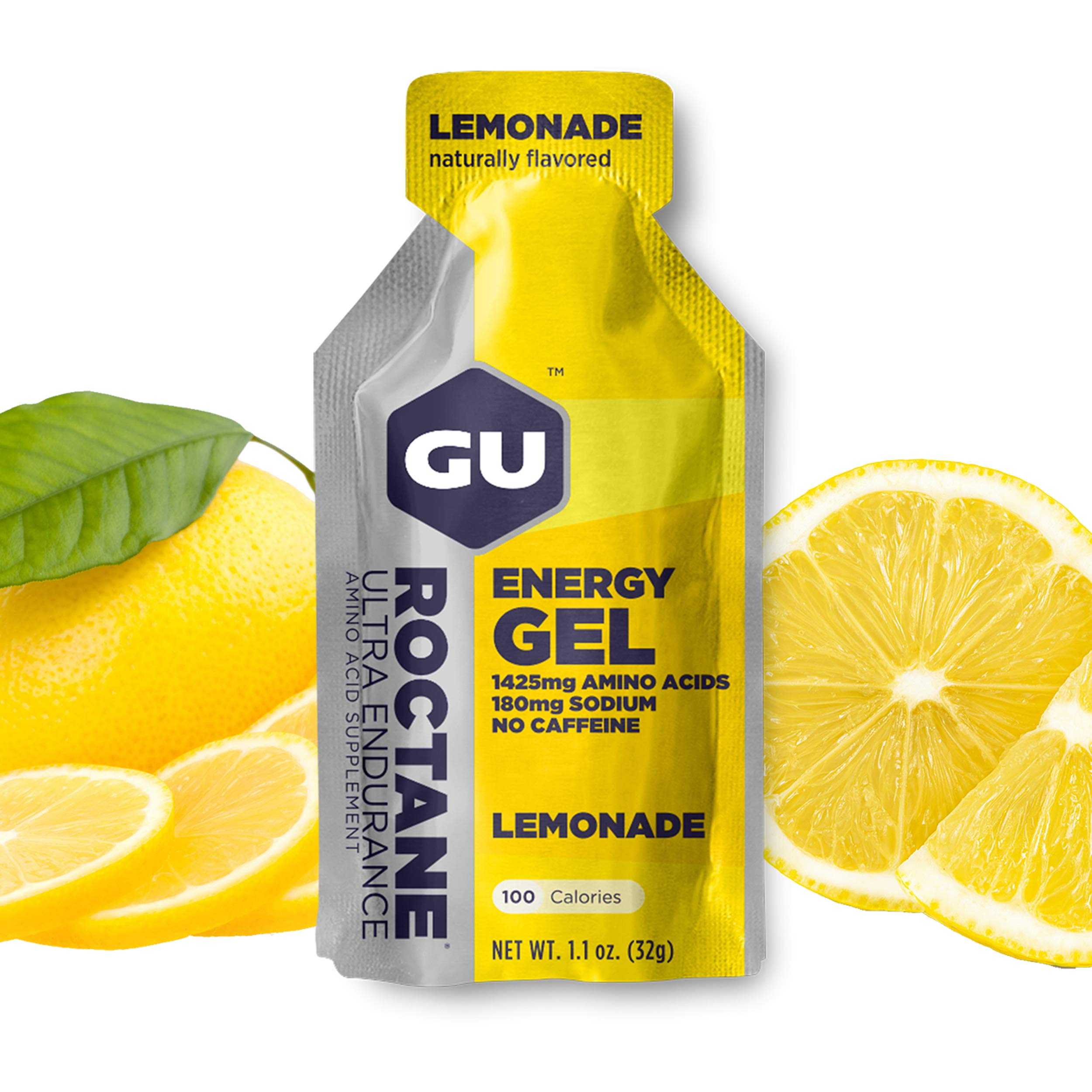 GU Roctane Ultra Endurance Energy Gel, Lemonade, 8 Count