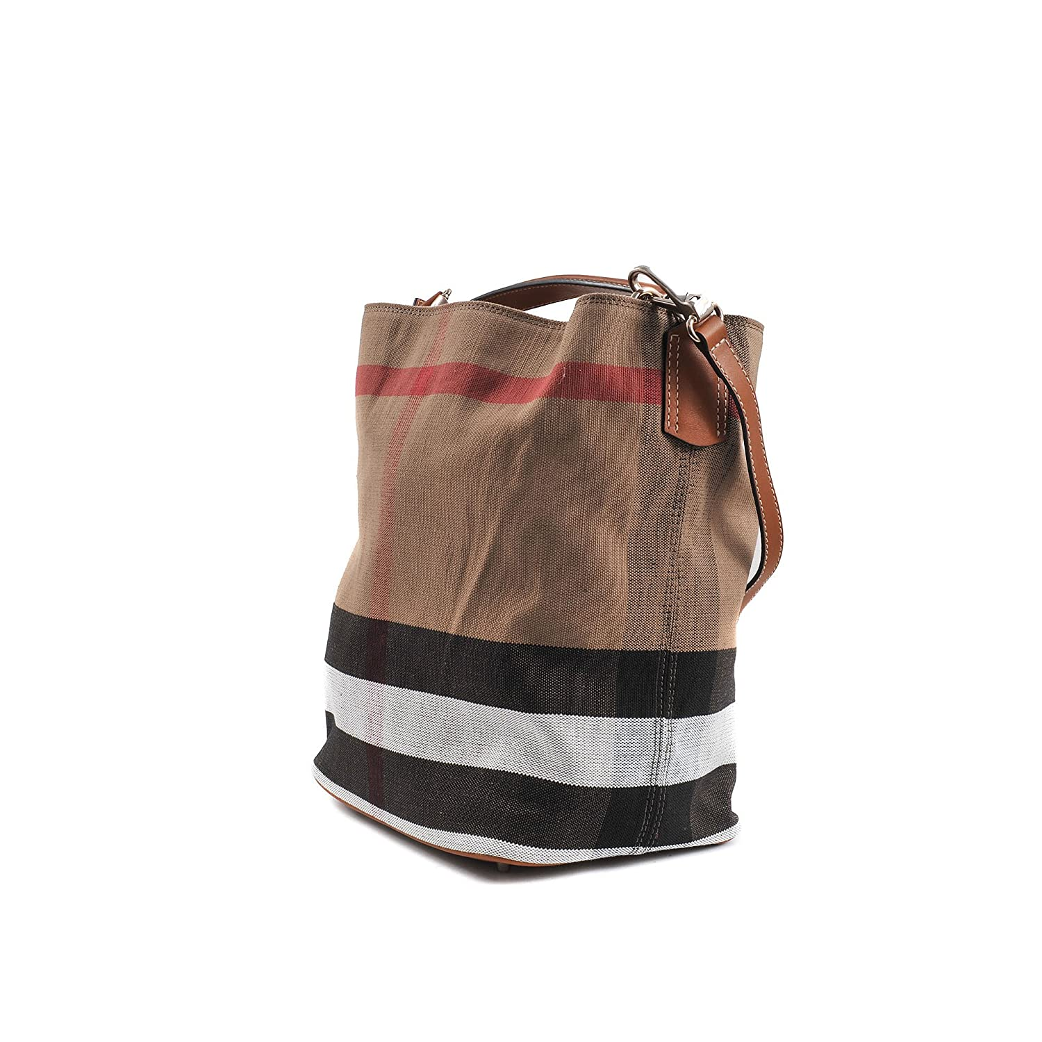 36cec0ff5e08 Burberry The Ashby Medium Canvas Check Tote - Saddle Brown  Amazon.ca   Watches