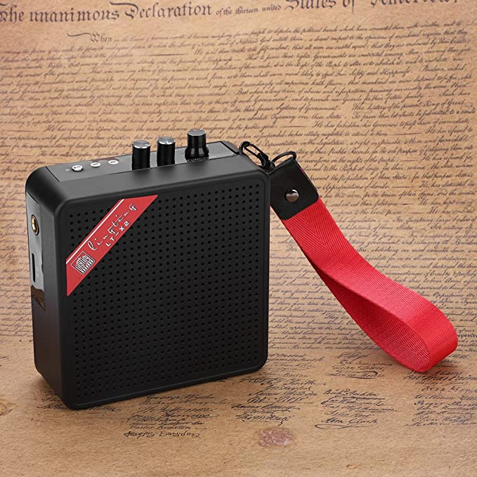 Amazon.com: 5W Mini Amplifier, Bluetooth Guitar SD Card Input Amplifier Speaker with USB & 9V Battery Power Supply: Musical Instruments
