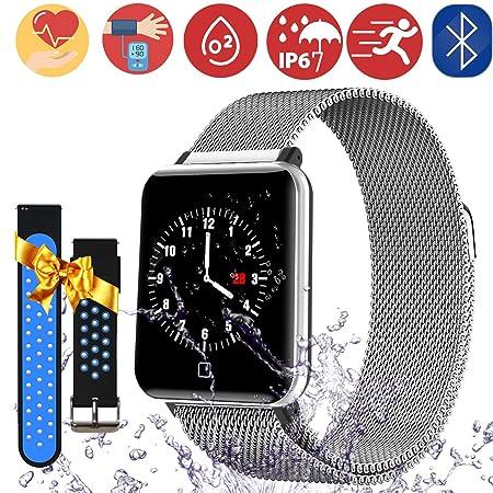 Bluetooth Smartwatch Fitness Uhr Intelligente Armbanduhr Fitness Tracker Smart Watch Sport Uhr mit Kamera Schrittzähler Schla