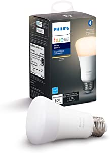 Philips Hue White A19 LED Smart Bulb, Bluetooth & Zigbee compatible (Hue Hub Optional), Works with Alexa & Google Assistant – A Certified for Humans Device