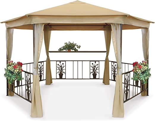 Trans Continental Group 3, 6 x 3.2 M Majestic Gazebo: Amazon.es: Jardín