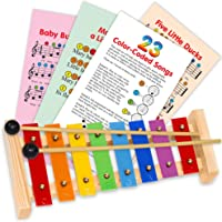 Mini Xylophone for Children - Color Musical Instrument - e-Book Color-Coded Children Songs just for this Xylophone