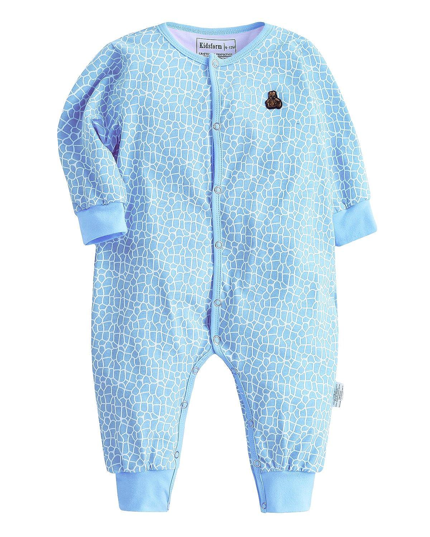 Kidsform Baby Unisex Print Overalls Langarm Jumpsuit Playsuits Strampler Pyjama Kleidung KIDSFORMyonnciide1