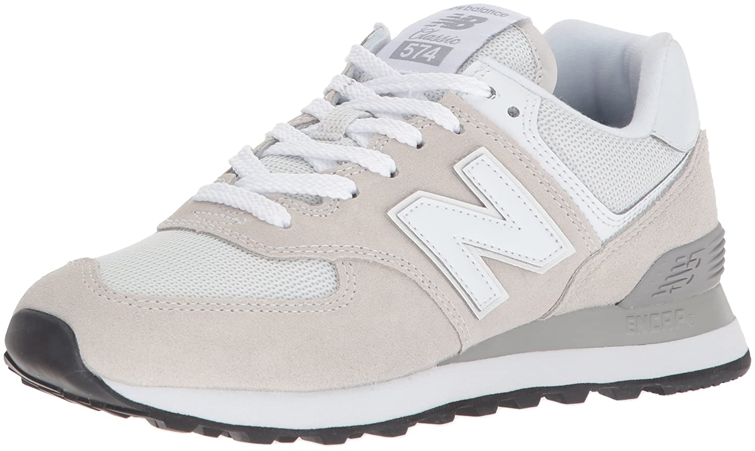 New Balance Women's Iconic 574 Sneaker B0725YG2VN 5.5 D US|White