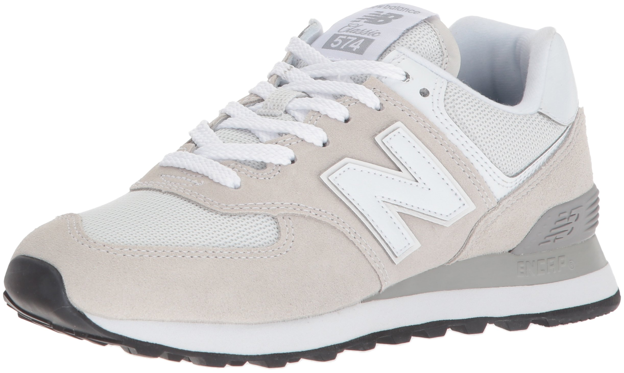 New Balance Women's Iconic 574 Sneaker, White, 6.5 B US