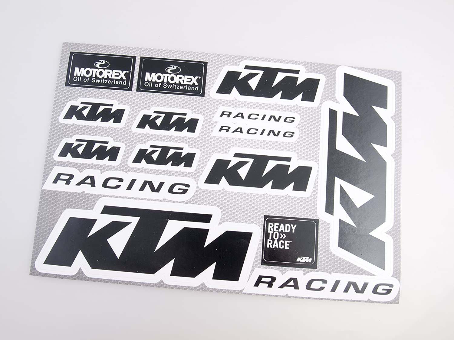 KTM Motorcycle Decals Stickers Motocross Bike 20x30cm 15pcs on one sheet (Black) Life Decor CC033BLACK