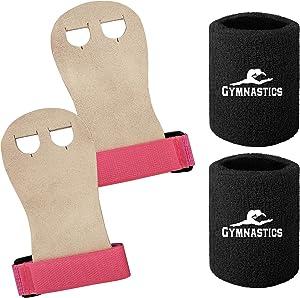 Ninja Sports Gymnastics Grips Wristbands for Girls Kids Youth