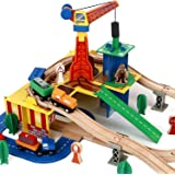 Classic Wood Train Tracks & Accessories Set - Wooden Railway Construction Toys for Toddlers and kids, Educational Toy, Train Track Expansion Pack with Tunnel, 100% Compatible with All Major Brands
