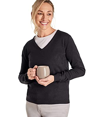 22610df428be Wool Overs Pull à col V - Femme - Cachemire   Mérinos  Amazon.fr ...