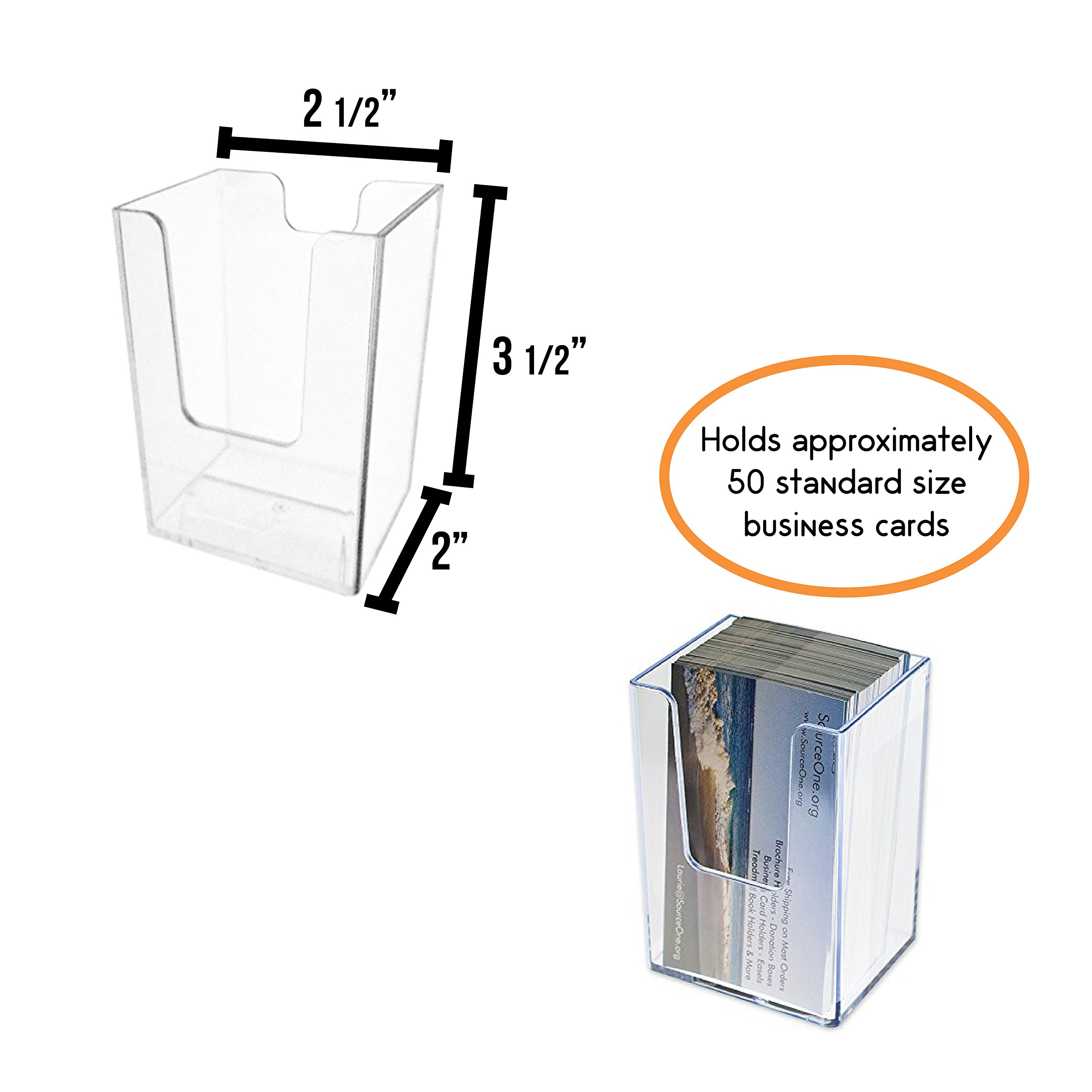 SourceOne Vertical Business Card Holder, Clear, 10 Pack