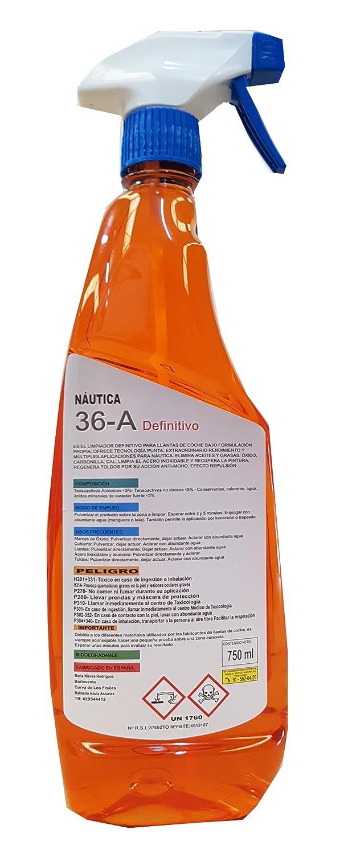 Barlovento 36 A Multilimpiador Desengrasante y Desoxidante, Naranja, 9x14x35 cm