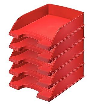 Leitz 52270025 - Bandeja de escritorio (Rojo, Poliestireno)