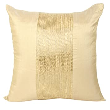 Amazon Gold Decorative Pillow Cover Beaded Gold Throw Pillow Inspiration White And Gold Decorative Pillows