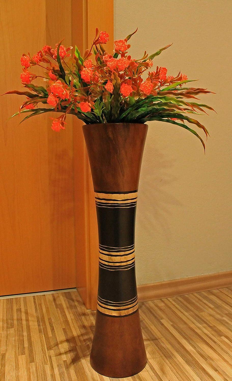 Rotfuchs Vase /à Fleurs Vase en Bois Vase /à /étage Vase /à Table Dekovase pour la d/écoration 51 cm en Bois de manguier