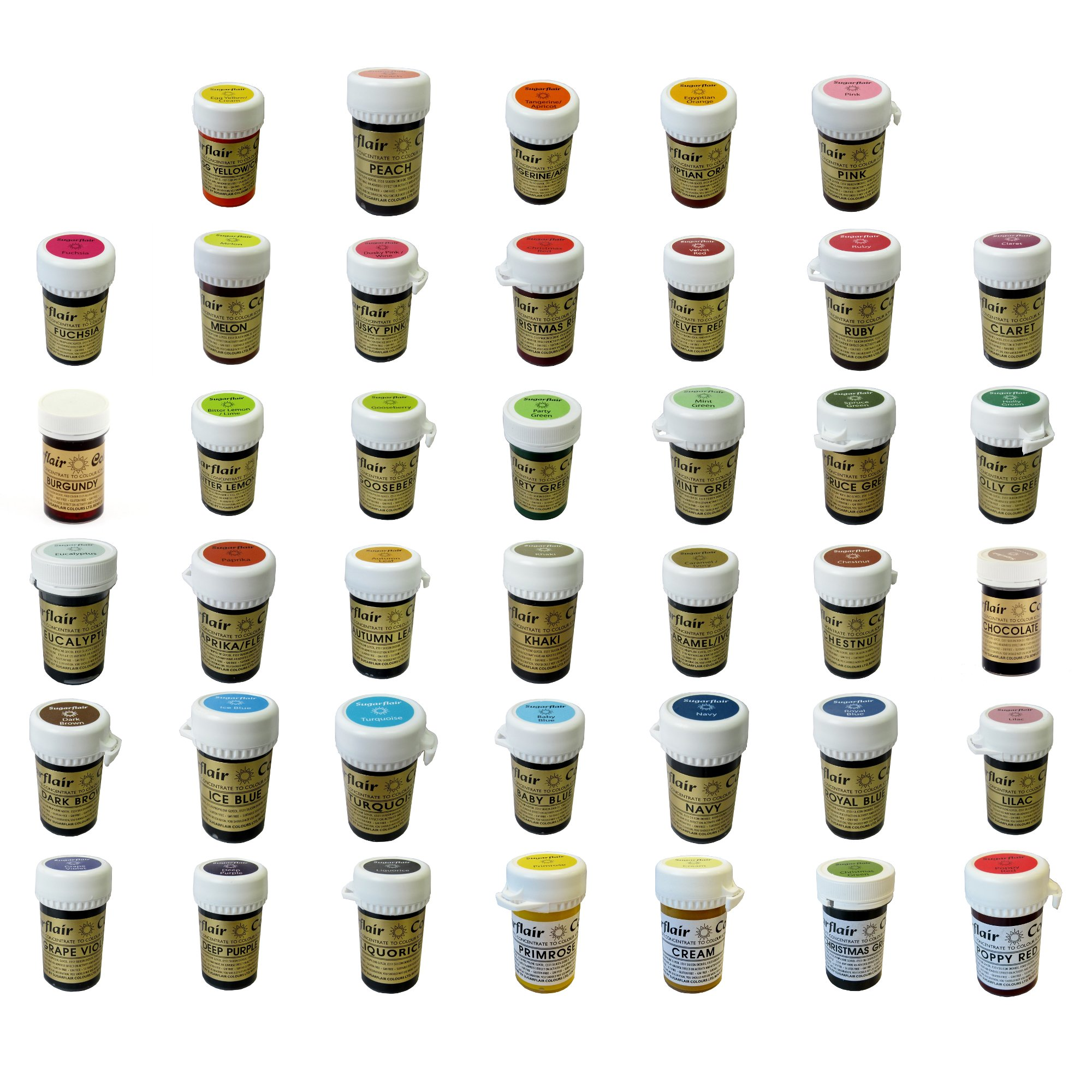 FULL SET 40 Sugarflair Paste Edible Gel Concentrated Icing Food Colouring COLOUR by Sugarflair (Image #1)