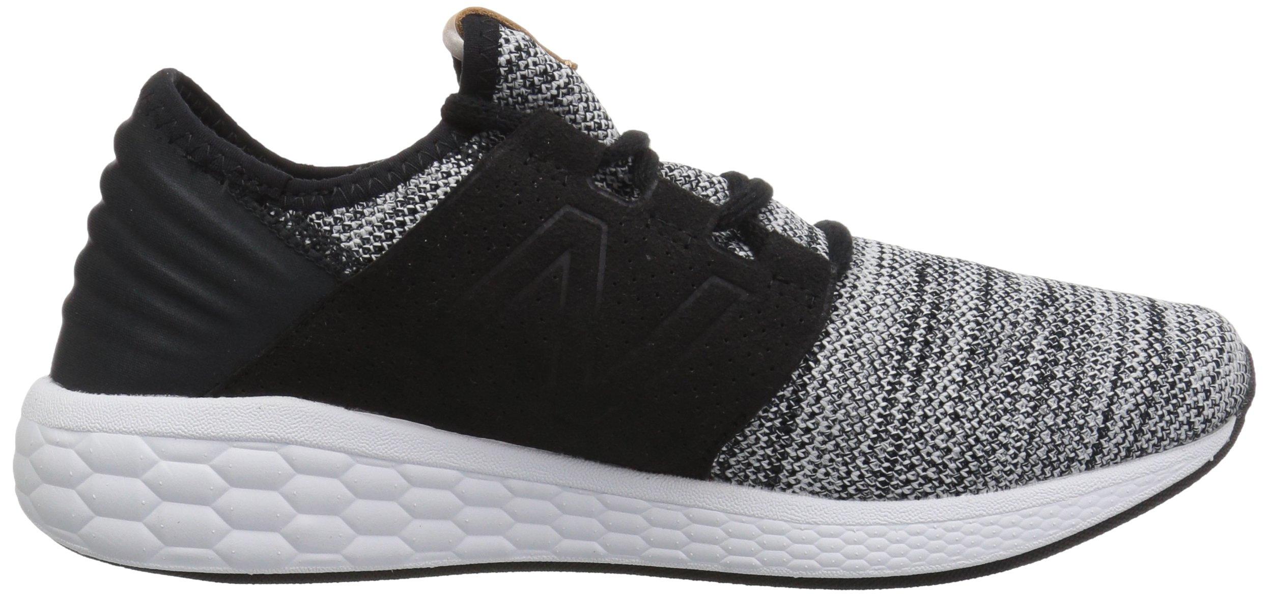 New Balance Men's Cruz V2 Fresh Foam Running Shoe, white/black, 7 D US by New Balance (Image #6)