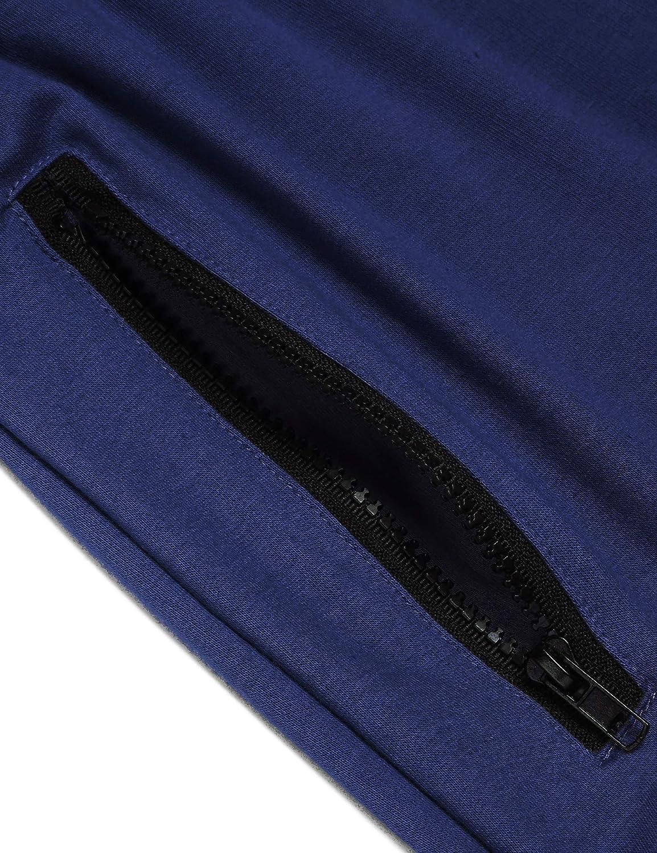 corte ajustado Pantalones cortos de entrenamiento para hombre de Coolfandy 2 lados con cremallera y cord/ón pantalones deportivos con bolsillos ideal para gimnasio