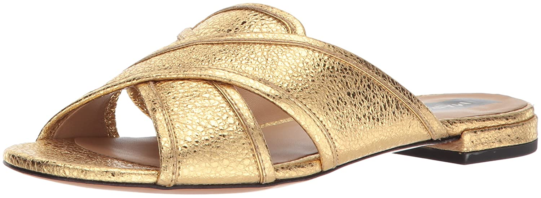 Marc Jacobs Women's Aurora Flat Slide Sandal B075Y6T8S3 38 M EU (8 US)|Gold