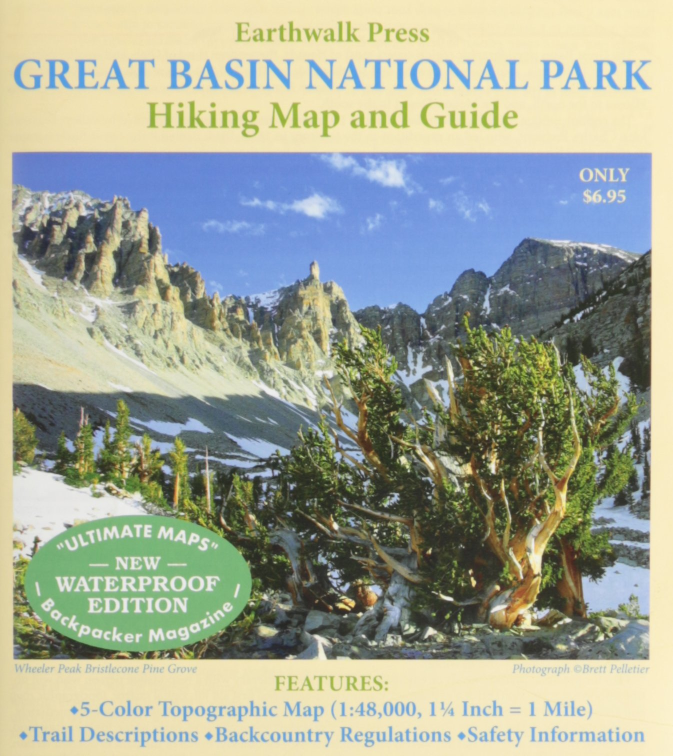 Great Basin National Park Map Hiking Map Guide Earthwalk Press