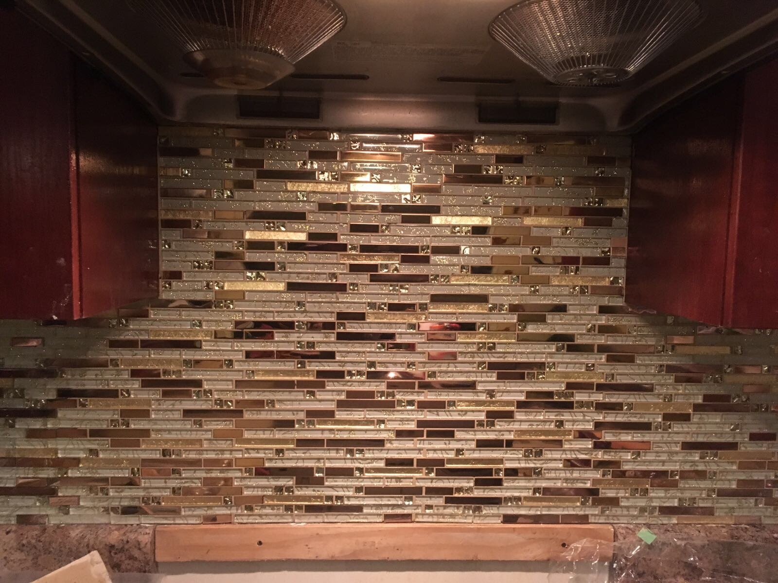 Luxury Rose Gold Stainless Steel And Foil Glass Linear Mosaic Tiles for Kitchen Backsplash/Bathroom decor,SA047-40 (Box of 10.76 sq ft) by LANDS GLASS METAL TILES (Image #5)