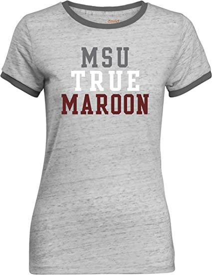 X-Large,Maroon NCAA Arizona State Sun Devils Adult Women NCAA Double Pattern Scroll Ladies Favorite Short sleeve T-Shirt