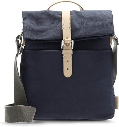 amason navy blue leather pack shoulder bag