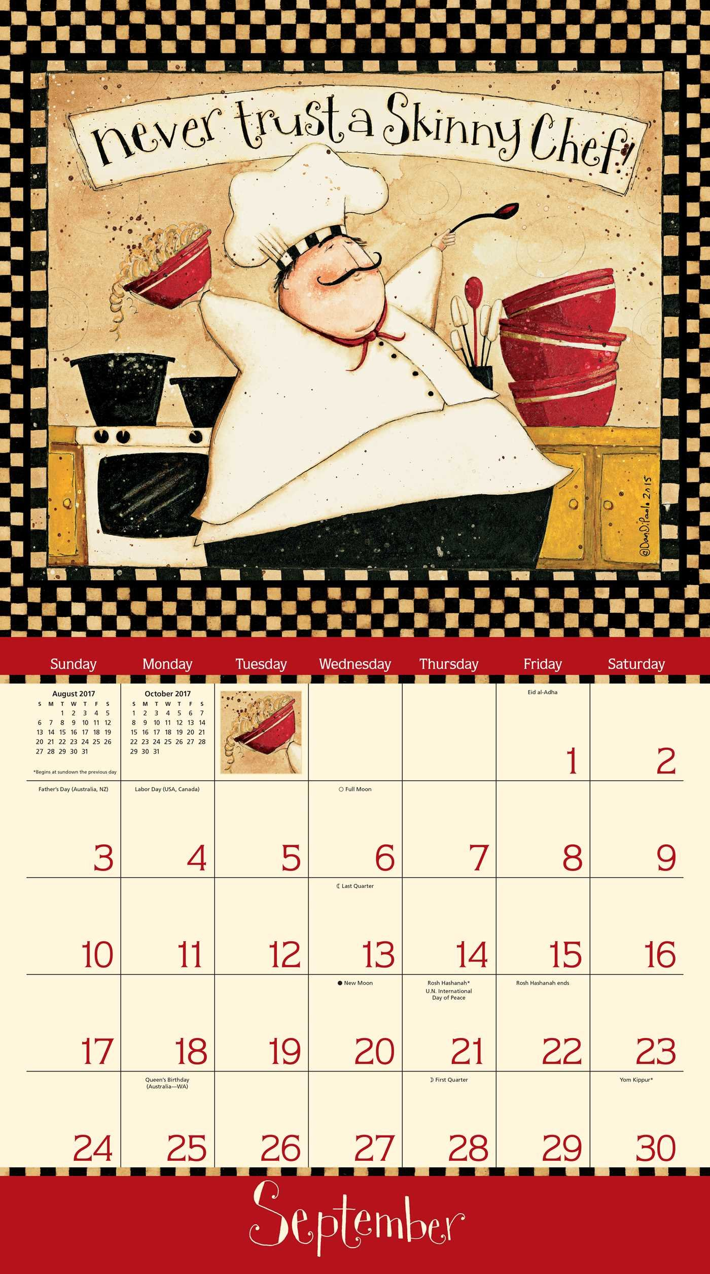 Home Is In The Kitchen 2017 Deluxe Wall Calendar Dan Dipaolo